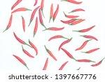 red bird's eye chilli pepper... | Shutterstock . vector #1397667776