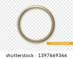 gray round frame isolated on... | Shutterstock .eps vector #1397669366