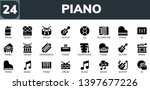 piano icon set. 24 filled piano ... | Shutterstock .eps vector #1397677226