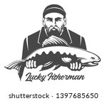 fishing emblem isolated on... | Shutterstock .eps vector #1397685650