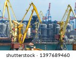 industrial port  infrastructure ... | Shutterstock . vector #1397689460