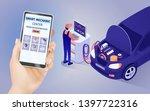 mobile application of smart... | Shutterstock .eps vector #1397722316