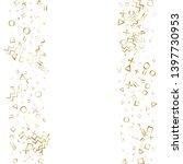 memphis style gold geometric... | Shutterstock .eps vector #1397730953