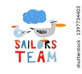sailors team. nautical hand...   Shutterstock .eps vector #1397734403