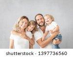portrait of happy family  ... | Shutterstock . vector #1397736560