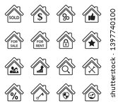 real estate icons. set 4. black ... | Shutterstock .eps vector #1397740100
