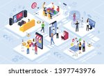 communication social networks ... | Shutterstock .eps vector #1397743976
