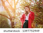 outdoor spring fashion portrait ... | Shutterstock . vector #1397752949