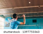 badminton court with players....   Shutterstock . vector #1397753363