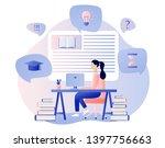 online education. flat cartoon... | Shutterstock .eps vector #1397756663