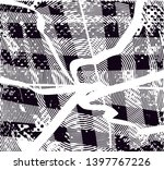 distressed background in black... | Shutterstock . vector #1397767226