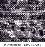 distressed background in black... | Shutterstock . vector #1397767253