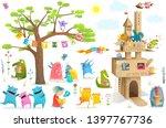 kids characters cardboard... | Shutterstock .eps vector #1397767736