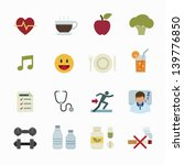 health icon and wellness icons... | Shutterstock .eps vector #139776850
