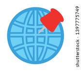map pin icon. glyph and filled... | Shutterstock .eps vector #1397775749