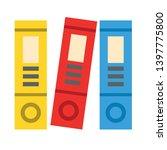 office folders vector icon.... | Shutterstock .eps vector #1397775800