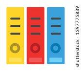 office folders vector icon.... | Shutterstock .eps vector #1397775839