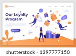 landing page template with... | Shutterstock .eps vector #1397777150