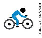 man riding bike vector icon.... | Shutterstock .eps vector #1397779880