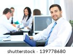 happy business man with... | Shutterstock . vector #139778680