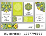 big set of greeting cards or...   Shutterstock .eps vector #1397795996