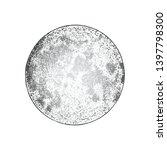 full moon isolated. antique... | Shutterstock .eps vector #1397798300