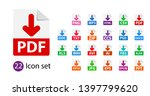 collection of vector icons.... | Shutterstock .eps vector #1397799620