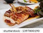 grilled squid steak or  yari... | Shutterstock . vector #1397800190