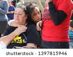 Small photo of Phoenix, Ariz. / U.S. - February 8, 2018: Supporters of Guadalupe Garcia de Rayos and her family wait for updates during a rally attempting to prevent her deportation. 4569