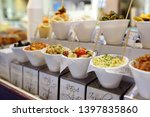 outdoor stall with various sea... | Shutterstock . vector #1397835860