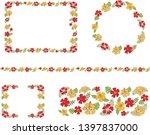frame set of hibiscus flower | Shutterstock .eps vector #1397837000