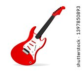 red electric guitar on a... | Shutterstock .eps vector #1397850893