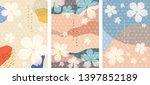 cherry blossom template vector. ... | Shutterstock .eps vector #1397852189