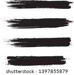 brush stroke set isolated on... | Shutterstock .eps vector #1397855879