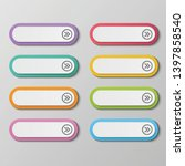 vector set colorful long round... | Shutterstock .eps vector #1397858540