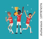 soccer league champions concept ... | Shutterstock .eps vector #1397876576