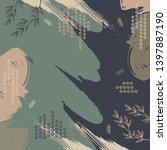 abstract grunge brush design...   Shutterstock .eps vector #1397887190