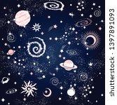space galaxy constellation... | Shutterstock .eps vector #1397891093