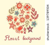 vector floral background with...   Shutterstock .eps vector #139789504