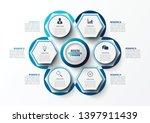 vector infographic template... | Shutterstock .eps vector #1397911439