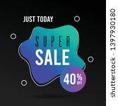 super sale banner. web banner... | Shutterstock .eps vector #1397930180