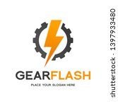 thunder bolt gear cogwheel... | Shutterstock .eps vector #1397933480