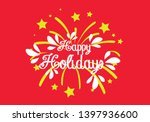happy holiday  beautiful... | Shutterstock .eps vector #1397936600