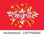 congrats  beautiful greeting... | Shutterstock .eps vector #1397936603