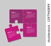 four pieces puzzle squares...   Shutterstock .eps vector #1397940899