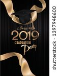 graduation party banner with... | Shutterstock .eps vector #1397948600