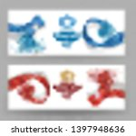 invitation banners with... | Shutterstock .eps vector #1397948636