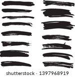 brush lines set. vector... | Shutterstock .eps vector #1397968919