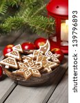 Bowl Of Gingerbread Cookies On...