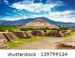 pyramids of the sun and moon on ... | Shutterstock . vector #139799134